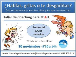 TDAH Taller Comunicación asertiva, problemas de comunicación con los hijos Coaching